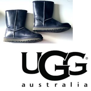 Ugg Blue Boots 1005372 New Classic Short Leather 8